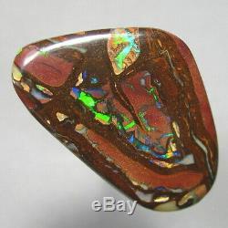 Vidéo De L'opale Boulder De Noix De Koroit Solide Naturel Australien Naturel 34ct