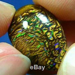Vidéo Scintillante De Verts Naturels Australiens Solides De Koroit Boulder Opale 12ct