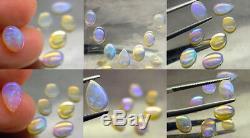 Violet Bleu Vert Jeu De Couleurs Ensemble D'opales Solides Naturelles