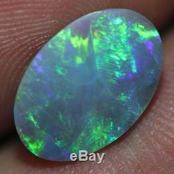 Vrac Naturel Non Monté Solide Australien Noir Opal Lightning Ridge Beauty 3.14c